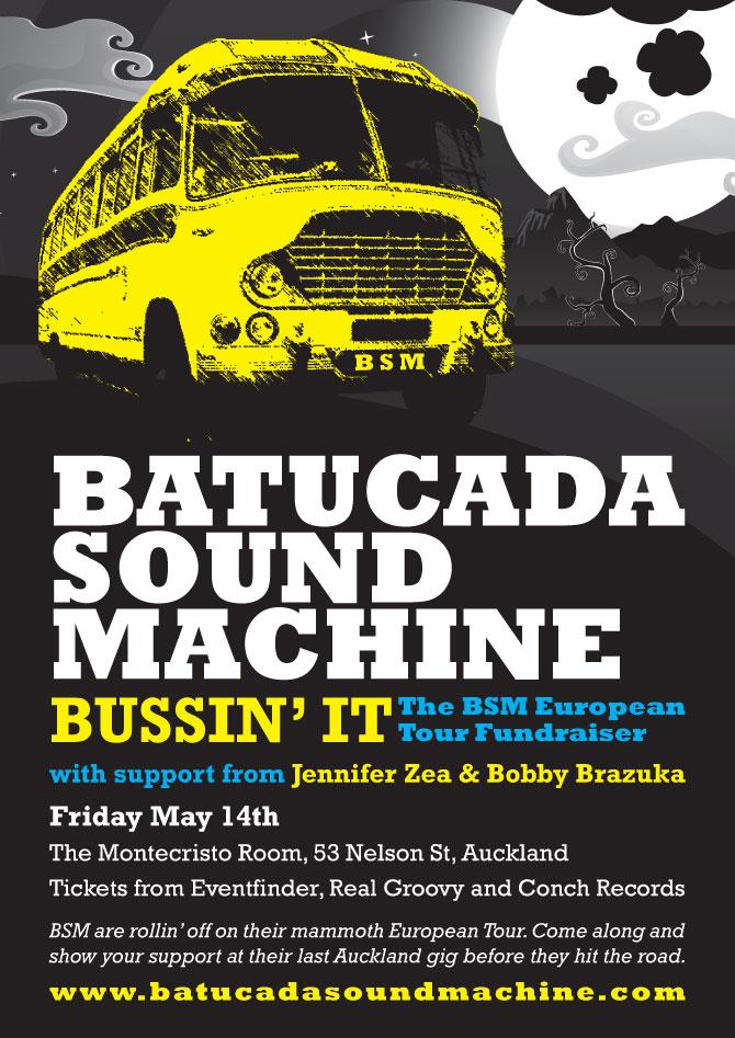 Batucada Sound Machine tour poster