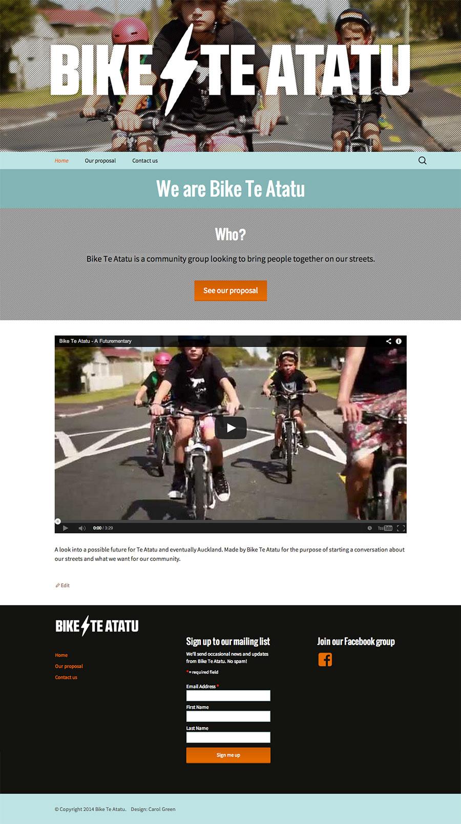 Bike Te Atatu website