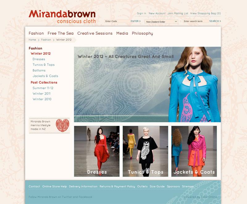 Miranda Brown website