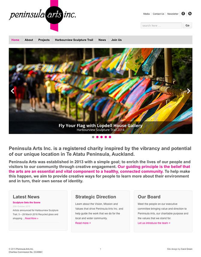 Peninsula Arts website