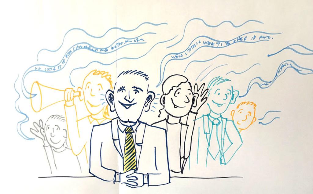Live-drawn sketchnotes – banking